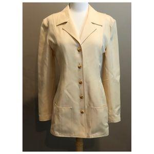 ✨Authentic Vintage CHANEL CC Logo Button Jacket